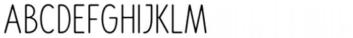 Rondell Condensed UltraLight Font UPPERCASE