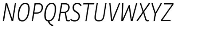 Ronnia Cond Thin Italic Font UPPERCASE