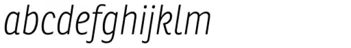 Ronnia Cond Thin Italic Font LOWERCASE