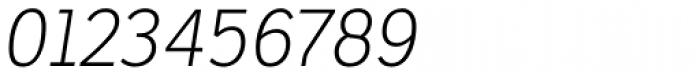 Ronnia Thin Italic Font OTHER CHARS