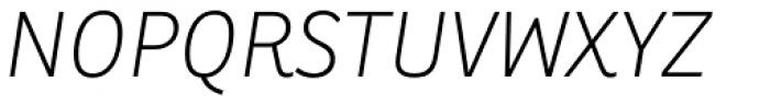 Ronnia Thin Italic Font UPPERCASE