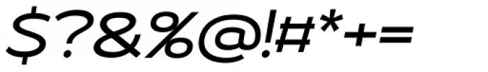 Roona Sans Medium Italic Font OTHER CHARS