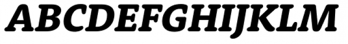 Rooney Heavy Italic Font UPPERCASE
