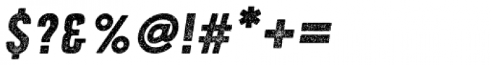 Roper Press Heavy Italic Font OTHER CHARS