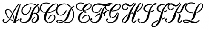 Rosa Stencil Font UPPERCASE