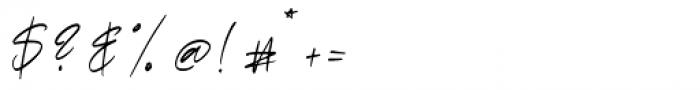 Rosalina Regular Font OTHER CHARS