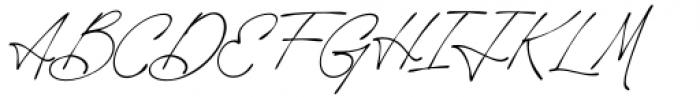 Rosanthie Regular Font UPPERCASE