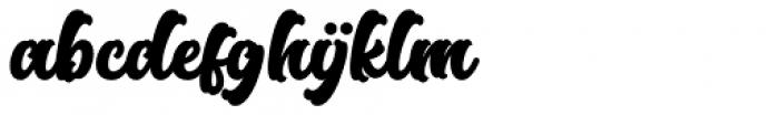 Rose Town Script Font LOWERCASE