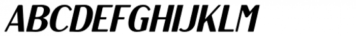 Rosengarten Sans Italic Font UPPERCASE