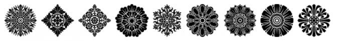 Rosette Ornaments Font LOWERCASE