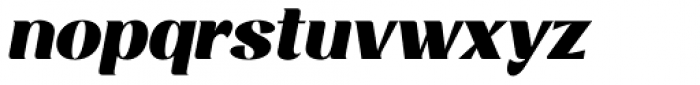 Rossanova Black Italic Font LOWERCASE