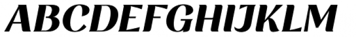 Rossanova Extra Bold Italic Font UPPERCASE