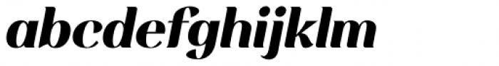 Rossanova Extra Bold Italic Font LOWERCASE
