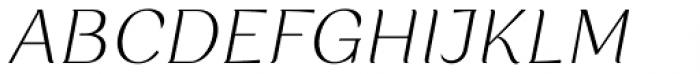 Rossanova Extra Light Italic Font UPPERCASE