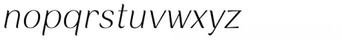 Rossanova Extra Light Italic Font LOWERCASE