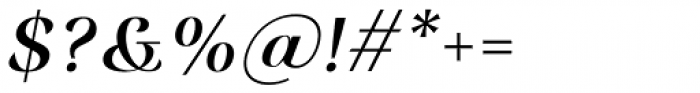 Rossanova Medium Italic Font OTHER CHARS