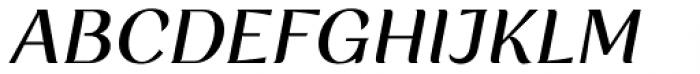 Rossanova Medium Italic Font UPPERCASE