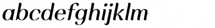 Rossanova Medium Italic Font LOWERCASE