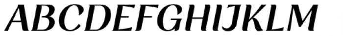Rossanova Semi Bold Italic Font UPPERCASE