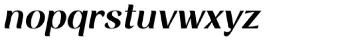 Rossanova Semi Bold Italic Font LOWERCASE