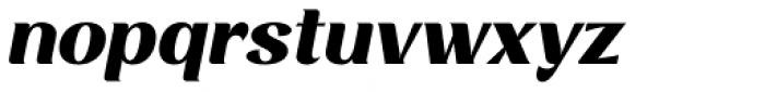 Rossanova Text Extra Bold Italic Font LOWERCASE