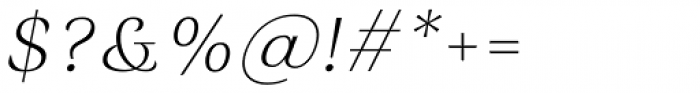 Rossanova Text Extra Light Italic Font OTHER CHARS