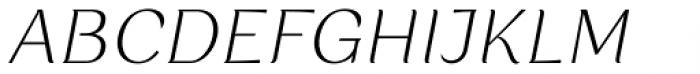 Rossanova Text Extra Light Italic Font UPPERCASE