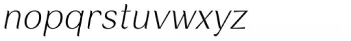 Rossanova Text Extra Light Italic Font LOWERCASE