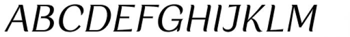 Rossanova Text Italic Font UPPERCASE