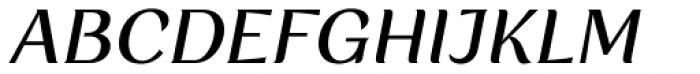 Rossanova Text Medium Italic Font UPPERCASE