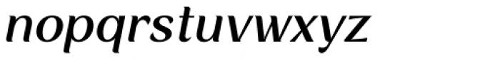 Rossanova Text Medium Italic Font LOWERCASE