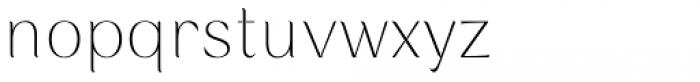 Rossanova Thin Font LOWERCASE