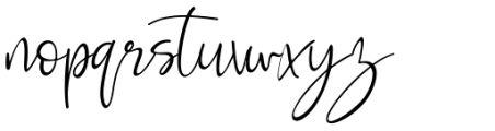 Rosse Regular Font LOWERCASE