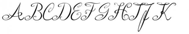 Roto Script Font UPPERCASE
