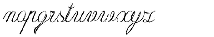 Roto Script Font LOWERCASE