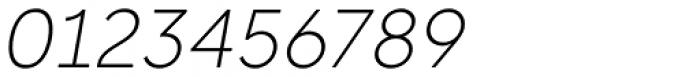 Rotunda Thin Italic Font OTHER CHARS