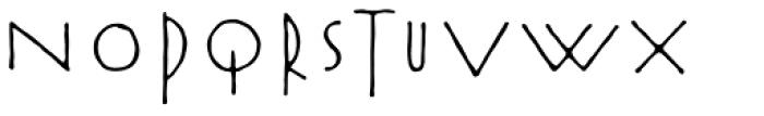 Rouge Font UPPERCASE