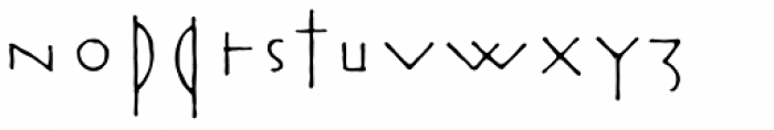 Rouge Font LOWERCASE