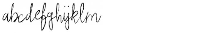 Rough Beauty Script Font LOWERCASE