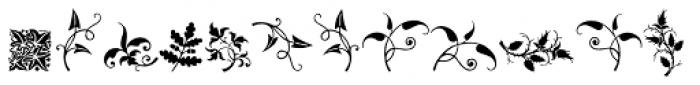 Rough Fleurons Ten Font UPPERCASE