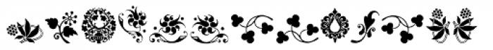 Rough Fleurons Ten Font LOWERCASE