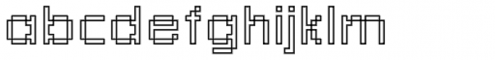Rough No 1 Font LOWERCASE