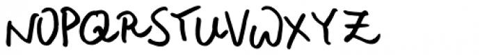 Rough Notes Regular Font UPPERCASE