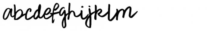 Rough Notes Regular Font LOWERCASE
