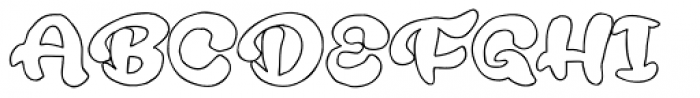 Rough Rakoon Out Font UPPERCASE