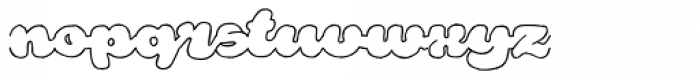Rough Rakoon Out Font LOWERCASE
