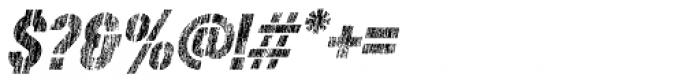 Rough Stuff Italic Font OTHER CHARS
