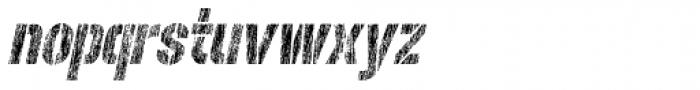 Rough Stuff Italic Font LOWERCASE
