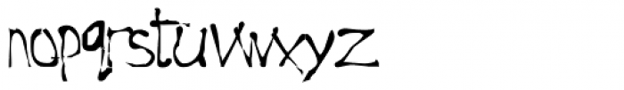 Roughedge Font LOWERCASE