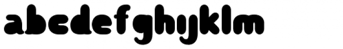 Rounded Teen Font LOWERCASE